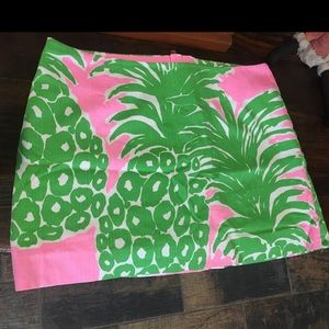 🍍Lilly Pulitzer Tate Skirt Green/Pink Pineapple